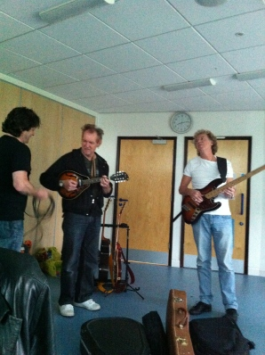 JB, Dzal Marin and Barry Lamb having a little jam